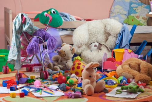 nepořádek v dětském pokoji