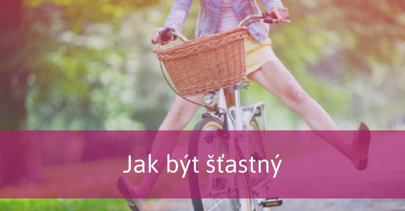 šťastná žena na kole