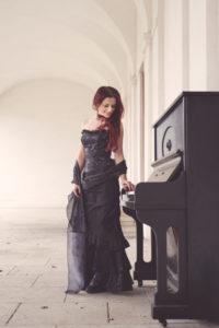 žena hudba vášeň